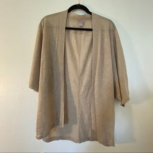 Chico's Knit Cardigan Light-weight Dolman in Sand